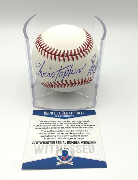 Christopher Lloyd Angels In The Outfield Signed Romlb Baseball Beckett Bas 13