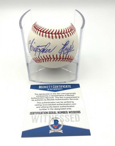 Christopher Lloyd Angels In The Outfield Signed Romlb Baseball Beckett Bas 16