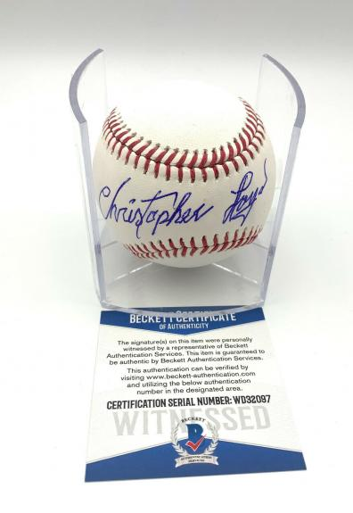 Christopher Lloyd Angels In The Outfield Signed Romlb Baseball Beckett Bas 18