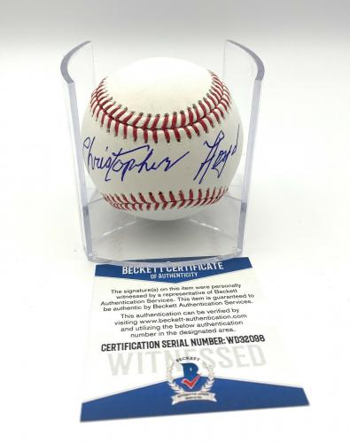 Christopher Lloyd Angels In The Outfield Signed Romlb Baseball Beckett Bas 19