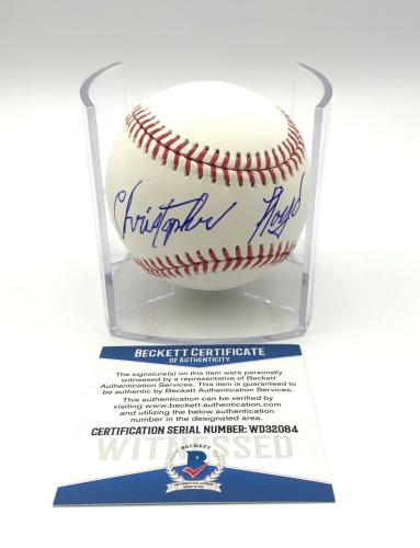 Christopher Lloyd Angels In The Outfield Signed Romlb Baseball Beckett Bas 4