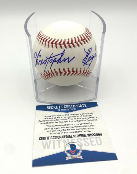 Christopher Lloyd Angels In The Outfield Signed Romlb Baseball Beckett Bas 6