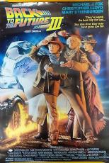 Christopher Lloyd Autographed Back to the Future 3 Poster 27x40 JSA Authentic