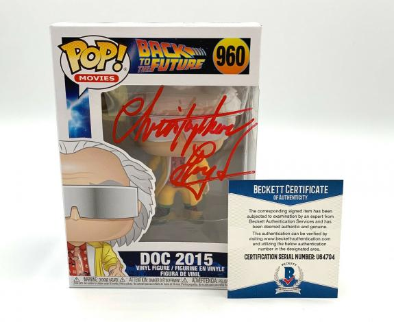 Christopher Lloyd Back To The Future Signed Funko Pop Autograph Beckett Bas 22