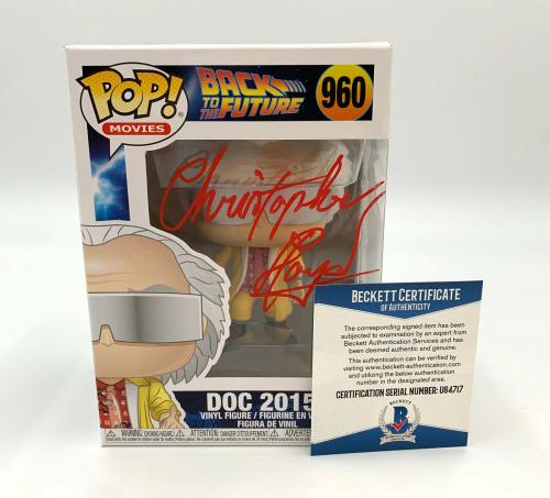 Christopher Lloyd Back To The Future Signed Funko Pop Autograph Beckett Bas 8