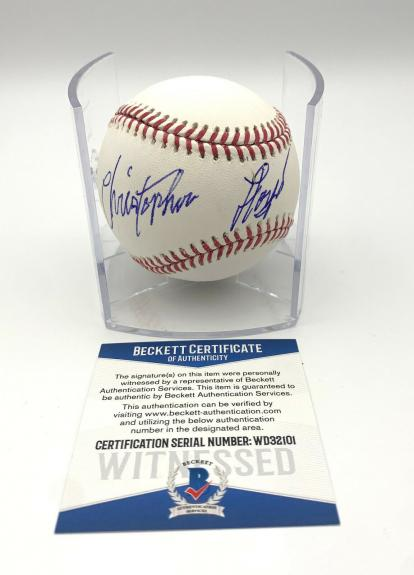Christopher Lloyd Signed Angels In The Outfield Autograph Baseball Beckett 2