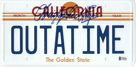 Christopher Lloyd Signed Auto Back To The Future License Plate Beckett Bas Coa