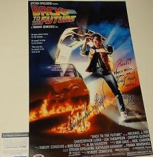 Christopher Lloyd Signed 'back To The Future' 11x17 Poster Psa/dna Coa V73696