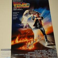 Christopher Lloyd Signed 'back To The Future' 11x17 Poster Psa/dna Coa V73697