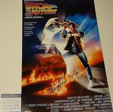 Christopher Lloyd Signed 'back To The Future' 11x17 Poster Psa/dna Coa V73698