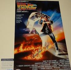 Christopher Lloyd Signed 'back To The Future' 11x17 Poster Psa/dna Coa V73699
