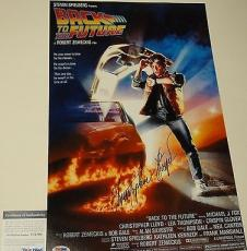 Christopher Lloyd Signed 'back To The Future' 11x17 Poster Psa/dna Coa V73700