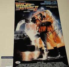 Christopher Lloyd Signed 'back To The Future' 11x17 Poster Psa/dna Coa V73702