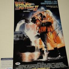 Christopher Lloyd Signed 'back To The Future' 11x17 Poster Psa/dna Coa V73703