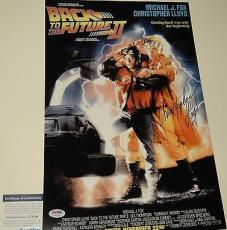 Christopher Lloyd Signed 'back To The Future' 11x17 Poster Psa/dna Coa V73704