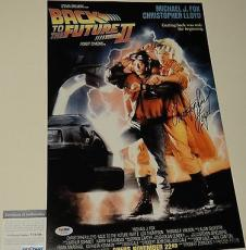 Christopher Lloyd Signed 'back To The Future' 11x17 Poster Psa/dna Coa V73706