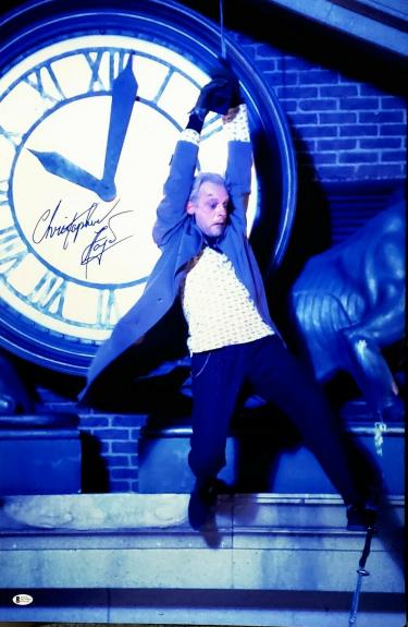 """CHRISTOPHER LLOYD Signed """"BACK TO THE FUTURE"""" 20X30 Photo Beckett BAS Witness"""