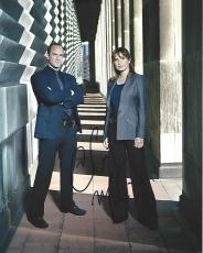 "CHRISTOPHER MELONI as DET. ELLIOTT STABLER and MARISKA HARGITAY as LT. OLIVIA BENSON in ""LAW & ORDER: SPECIAL VICTIMS UNIT"" Signed by Both 8x10 Color Photo"
