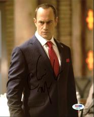 Christopher Meloni Law & Order: SVU Signed 8X10 Photo PSA/DNA #AA83748