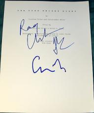 "Christopher Nolan Christian Bale Signed Autograph ""the Dark Knight Rises"" Script"