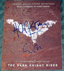 Christopher Nolan & Hans Zimmer Signed The Dark Knight Rises Music Poster Photo