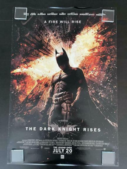 CHRISTOPHER NOLAN SIGNED AUTOGRAPH 27x40 FULL SIZE THE DARK KNIGHT RISES POSTER