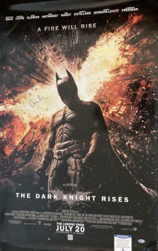 Christopher Nolan Signed Autograph Dark Knight Rises Full Size 27x40 Poster Bas