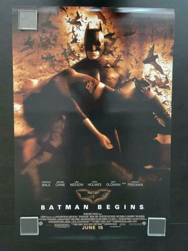 Christopher Nolan Signed Autograph Full Size Batman Begins Poster Christian Bale