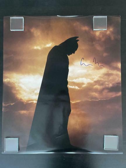 Christopher Nolan Signed Autograph Huge Batman Dark Knight Poster Photo - Rare!