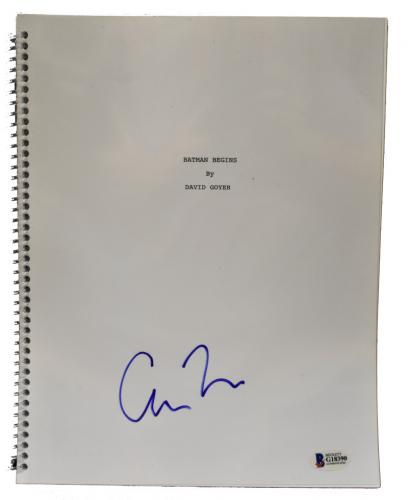 Christopher Nolan Signed Batman Begins Script Authentic Autograph Beckett Coa