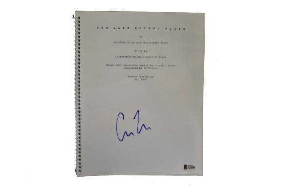 Christopher Nolan Signed The Dark Knight Rises Script Autograph Beckett Coa