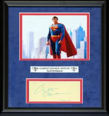 Christopher Reeve Autographed Framed Cut with Unsigned 8x10 Photo (JSA)