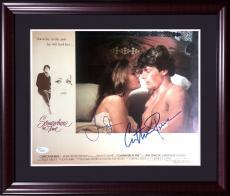 Christopher Reeve Jane Seymour signed 11x14 photo framed 2 auto Superman JSA LOA