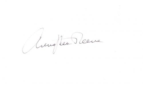 "CHRISTOPHER REEVE - Received Stardom for his Portrayal of the Superhero ""SUPERMAN"" Signed 6x3.5 Index Card"