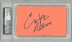 Christopher Reeve Signed Authentic Slabbed 3x5 Index Card Cut PSA/DNA #83464662