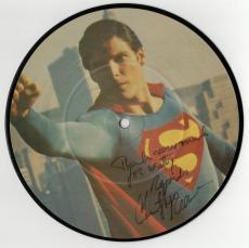 Christopher Reeve signed autographed Superman photo disc! RARE! JSA LOA!