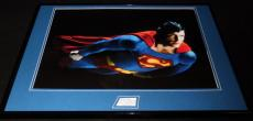 Christopher Reeve Signed Framed 18x24 Photo Display JSA Superman