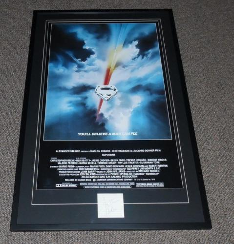 Christopher Reeve Signed Framed 26x41 Superman Poster Display AW