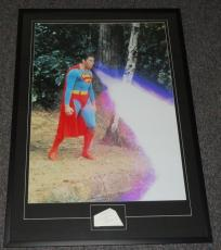 Christopher Reeve Signed Framed 29x41 Superman Poster Display JSA