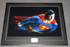 Christopher Reeve Signed Framed 31x41 Superman Poster Photo Display JSA
