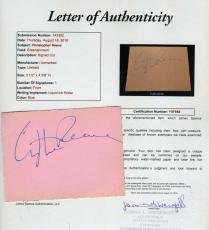 Christopher Reeve Superman Hand Signed Jsa Album Page Authenticated Autograph