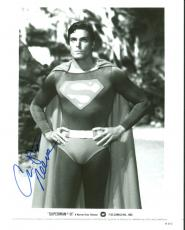 Christopher Reeve Superman III Signed 8X10 Promotional Photo BAS #A00329