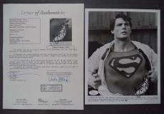 Christopher Reeve Superman Movie Signed Autograph 8x10 B/w Photo Jsa Loa #z09754