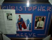 Christopher Reeve Superman Signed Autographed Double Matted & Framed Jsa Loa I