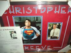 Christopher Reeve Superman Signed Autographed Double Matted & Framed Jsa Loa L