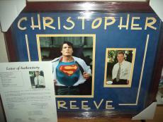 Christopher Reeve Superman Signed Autographed Double Matted & Framed Jsa Loa O