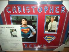 Christopher Reeve Superman Signed Autographed Double Matted & Framed Jsa Loa Q