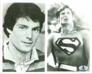 Christopher Reeve Superman Signed B&W 8X10 Photo BAS #A00308
