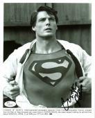 Christopher Reeve Superman Signed B&W 8X10 Promotional Photo JSA #Z09754