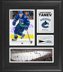 """Christopher Tanev Vancouver Canucks Framed 15"""" x 17"""" Collage with Piece of Game-Used Puck"""